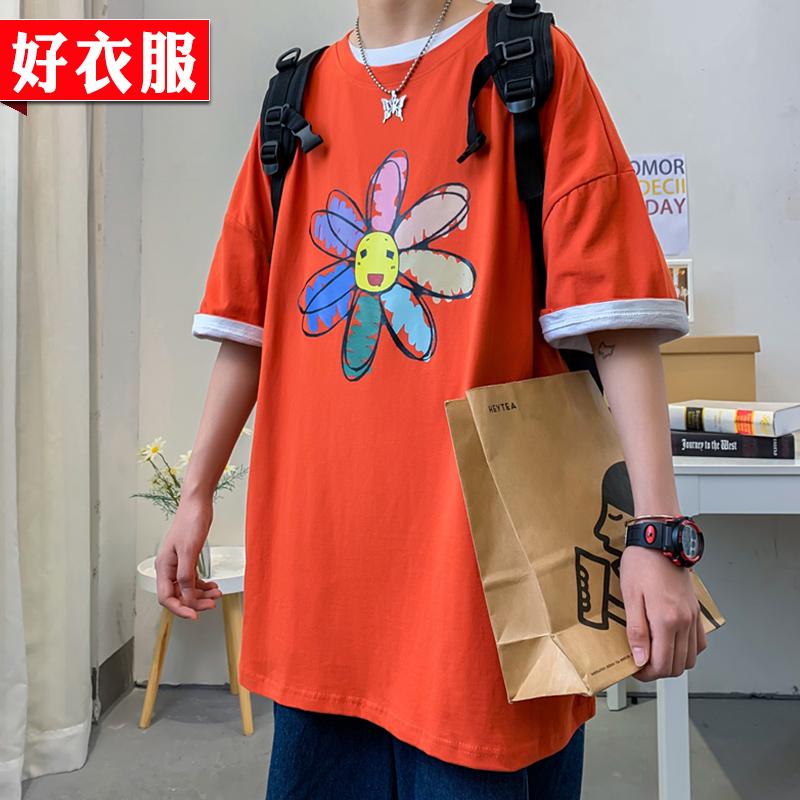 短袖T恤男女夏季情侣装韩版潮流宽松港风ins学生休闲体恤衫上衣服