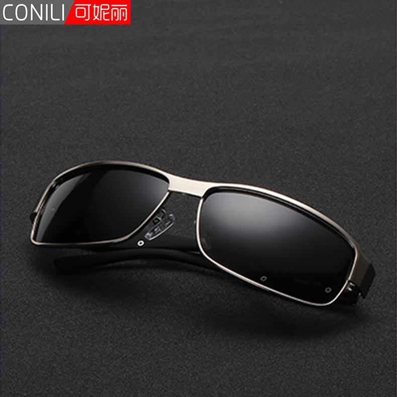 新款时尚偏光太阳镜防紫外线墨镜运动眼镜方框护目镜内镀膜驾驶镜