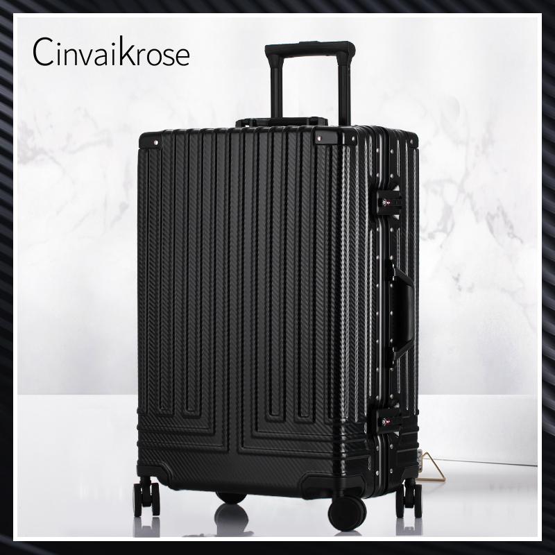小CK复古ins网红直角铝框行李箱女万向轮旅行箱密码男拉杆登机箱图片