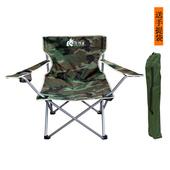 狂野者户外大号迷彩折叠扶手椅海边沙滩椅子钓鱼露营休闲钓鱼座椅