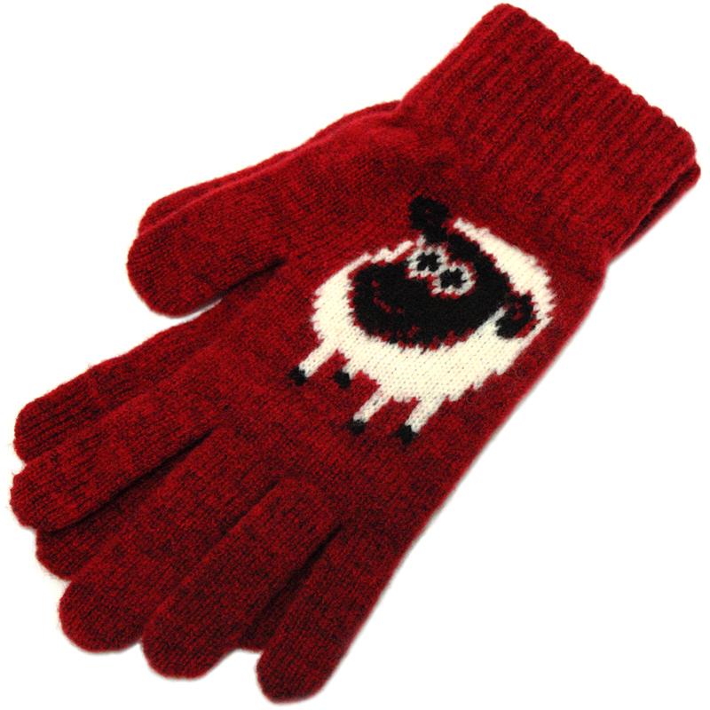 新西兰品牌 英式美丽诺宝藏纯羊毛可爱针织手套 男女情侣冬季厚款