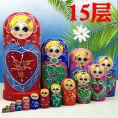 俄罗斯套娃正品15层纯手工木制品益智玩具创意礼物清仓包邮中国风