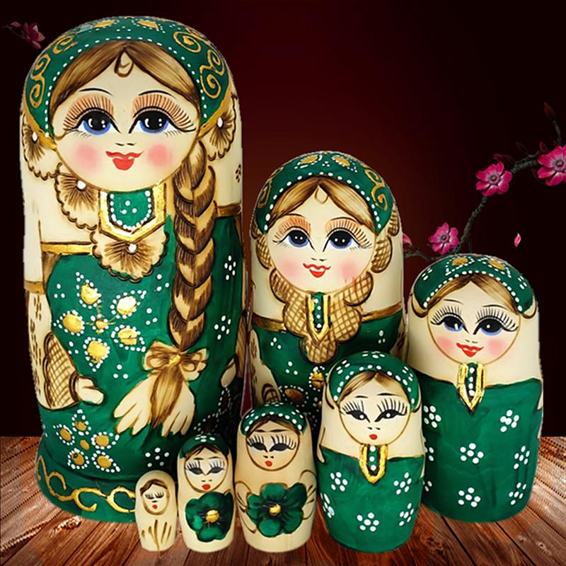 套娃 俄罗斯正品7层 民族特色手工艺品 纯手工 儿童礼品创意摆件
