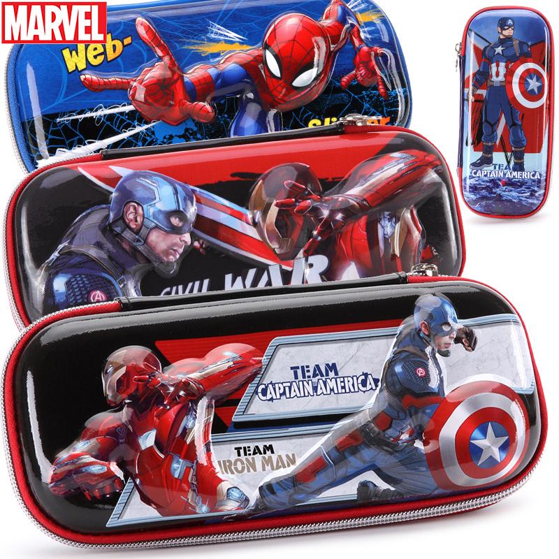 迪士尼笔袋小学生男童美国队长男孩文具盒蜘蛛侠大容量儿童铅笔盒