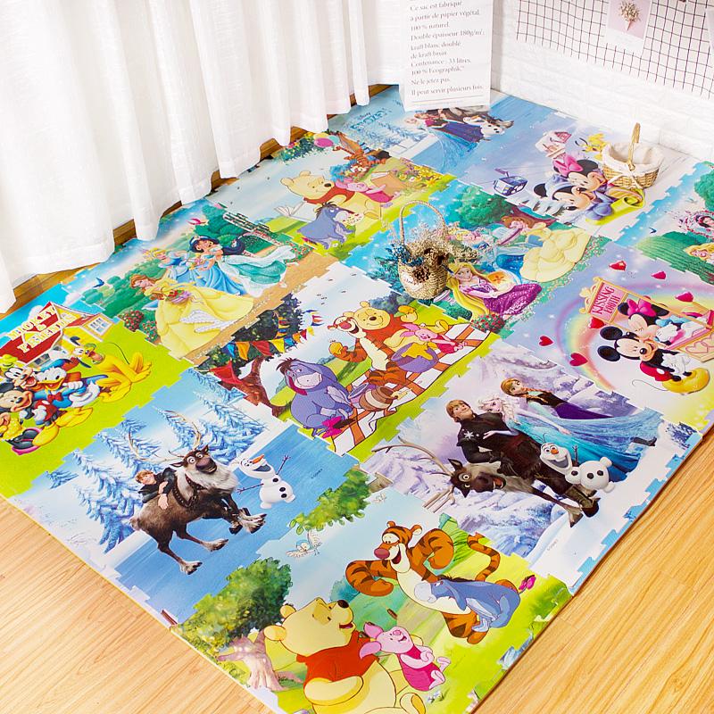 卡通泡沫拼接地垫拼图小猪佩奇宝宝爬爬垫婴儿童爬行垫加厚60x60(非品牌)
