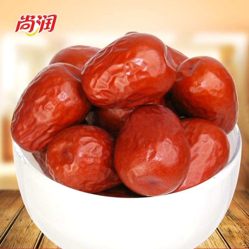 尚潤新棗新疆特產駿棗500g可夾核桃仁 幹果零食 和田大紅棗