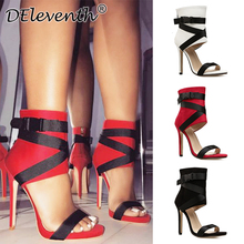 Red High Heels Sandals woman shoes