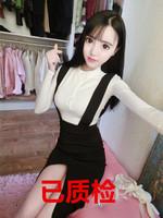 9079#模特实拍 新款OL女装套装性感气质包臀修身显瘦职业连衣裙