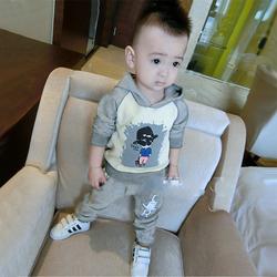 儿童装男童秋装婴儿长袖套装2020帅气1-3岁0幼儿2小童4秋季卫衣潮