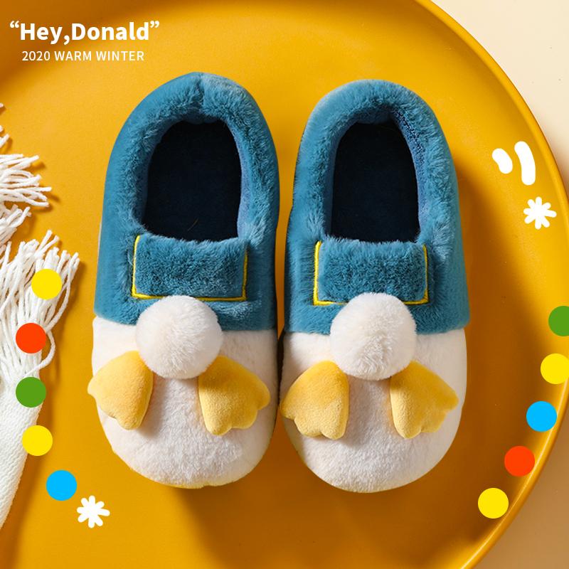 棉拖鞋女包跟室内可爱毛绒情侣家居拖鞋家用秋冬男卡通月子鞋棉鞋
