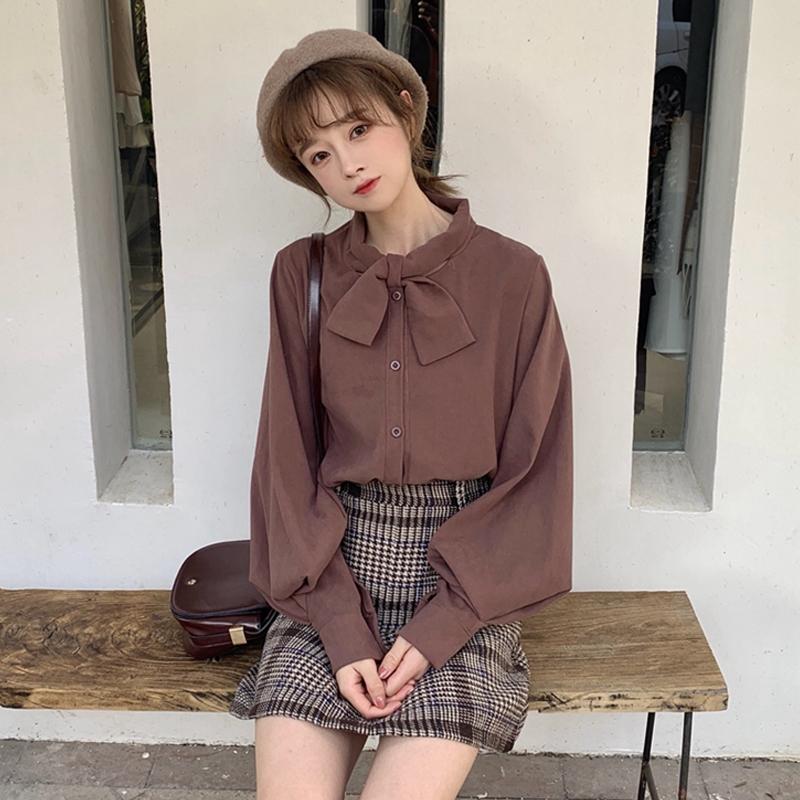 网红两件套装俏皮冬季半身裙秋冬女装2018新款韩版衬衫裙子两件套