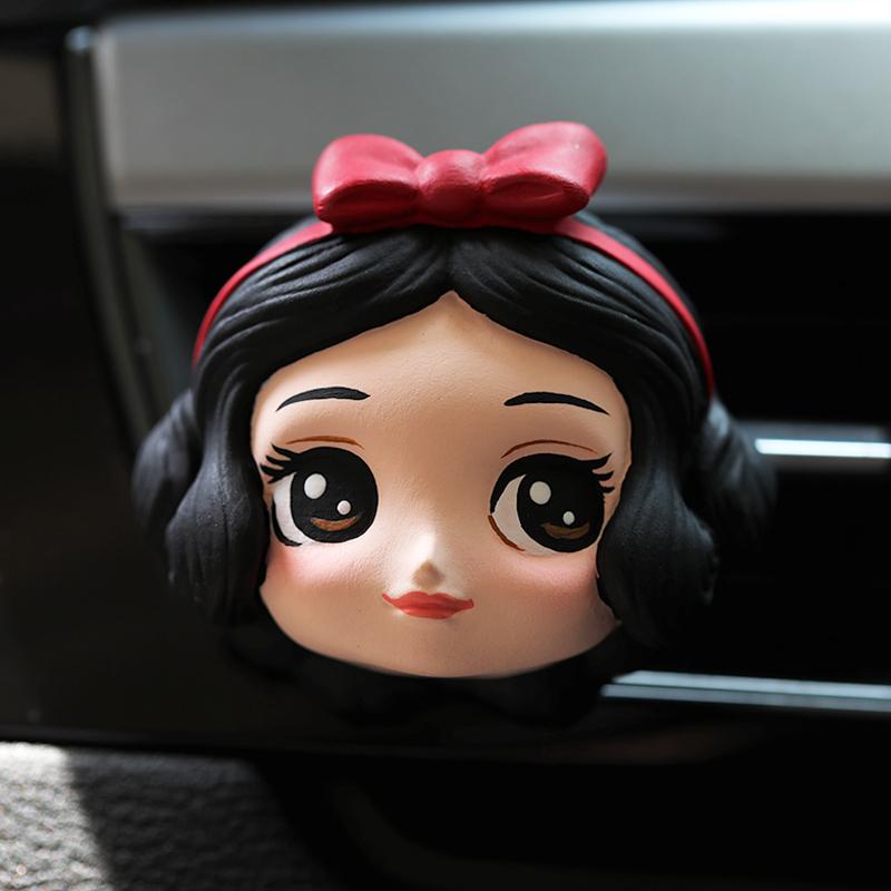 白雪公主迪士尼经典香薰石膏汽车香水出风口夹车载饰品伴手礼可爱