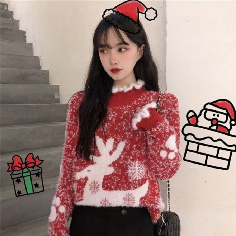 [~ clearance price ~] fawn wants to fly Kings deep fried sweater! Who wears the lace sweater 616