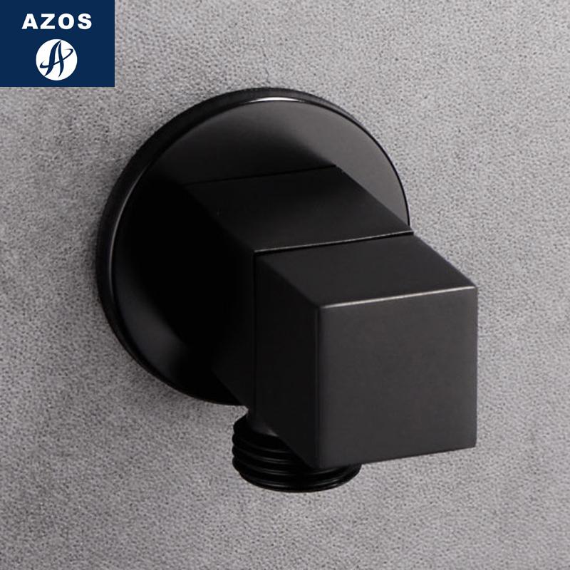 Германия черный угол все медь треугольник клапан водомодель устройство душ только клапан горячая и холодная через квадрат использование четверть туалет клапан
