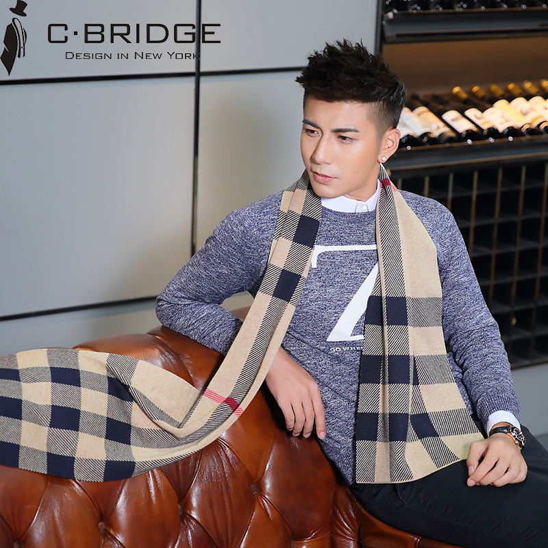 New wool mens scarf high grade womens fashion in autumn and winter