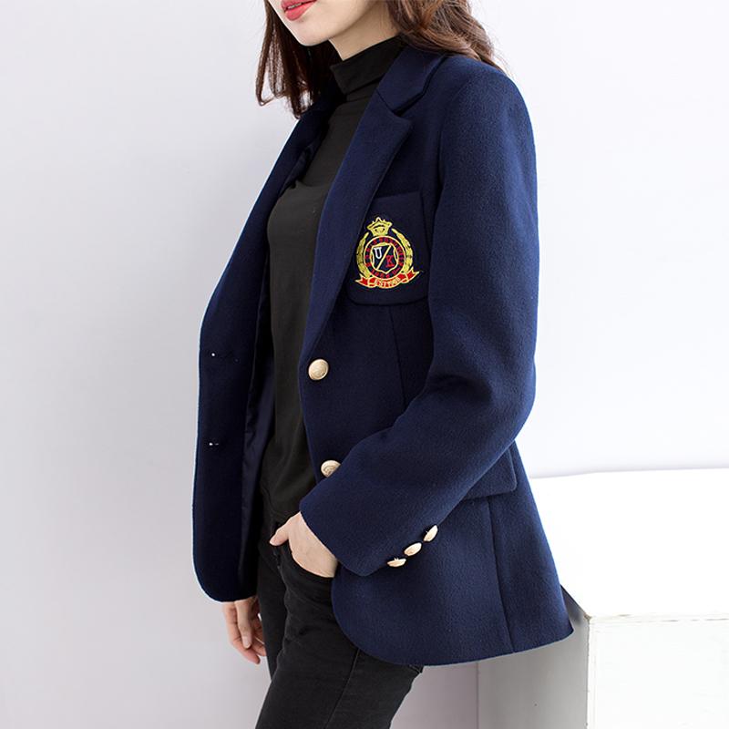 学院风毛呢西装外套女徐璐同款衣服2020春秋英伦短款羊毛呢子上衣