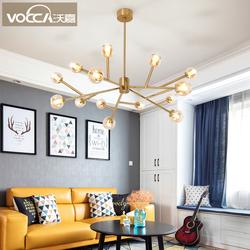 沃嘉北欧浪漫2019新款大气客厅灯后现代简约创意个性房间卧室吊灯