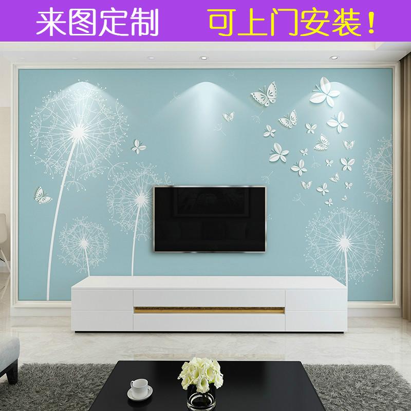 电视背景墙壁纸8d立体现代简约客厅卧室大气5d装饰壁画3d影视墙布