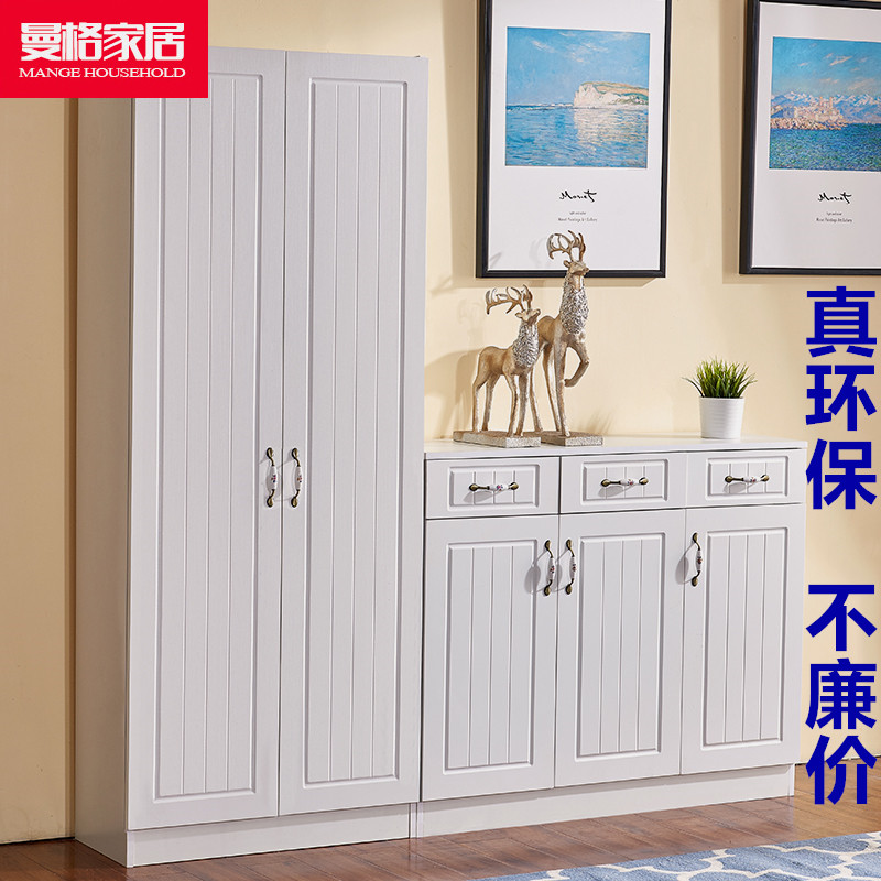 Large capacity shoe cabinet into the home one by the wall door porch hall wardrobe balcony height combination customization