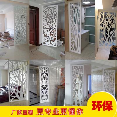 雕花板镂空屏风隔断客厅装饰实木花格吊顶背景墙现代PVC高密度板