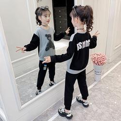 网红2021新款春装套装女童卫衣中童大童装2020潮洋气春秋衣服爆款
