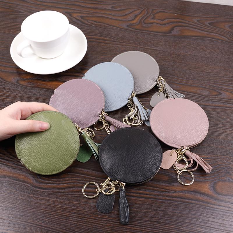 日韩新迷你零钱包超薄真皮拉链硬币包短款小钱包钥匙包小挂件包女