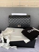 98新Chanel香奈儿黑色银链单肩斜挎包 二手奢侈品 正品