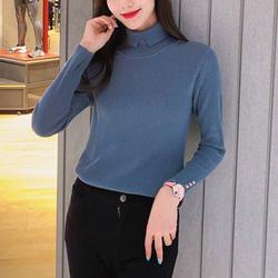 新颖哥弟特女装2020秋冬装新款长袖羊毛高领显瘦针织打底衫毛衣