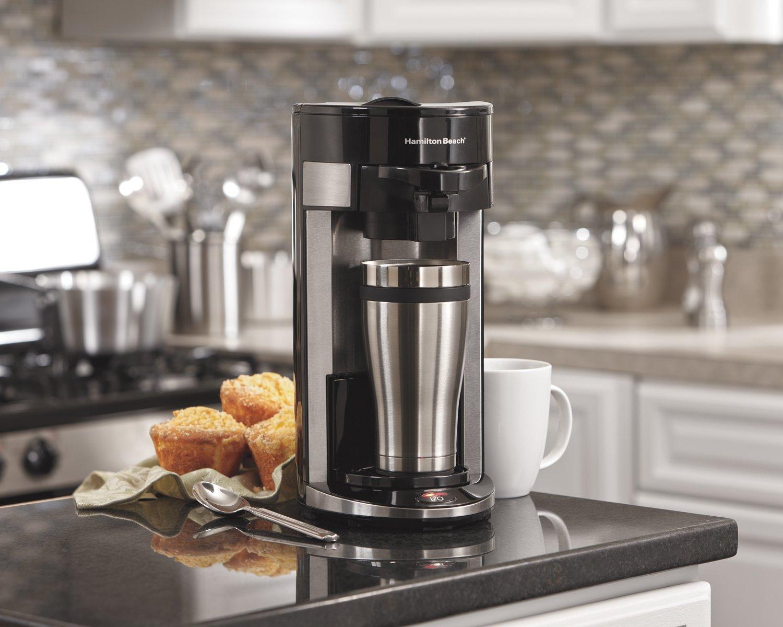 Hamilton Beach- 49999A 单杯咖啡机 兼容咖啡粉/软包/K-12月08日最新优惠