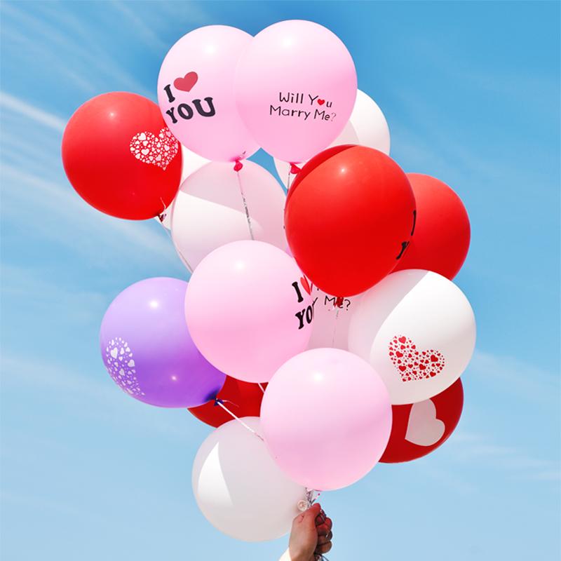 蔓琪丝 创意爱心求婚气球婚庆结婚气球婚礼大号婚房装饰布置用品