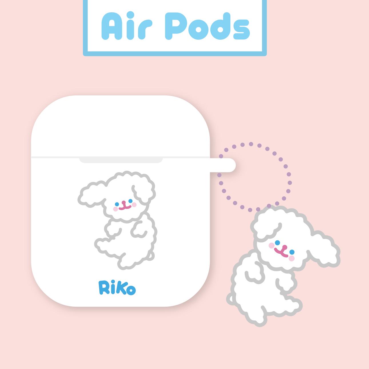 funnyns白色小狗狗airpodspro3保护套tpu苹果1/2无线蓝牙耳机软套