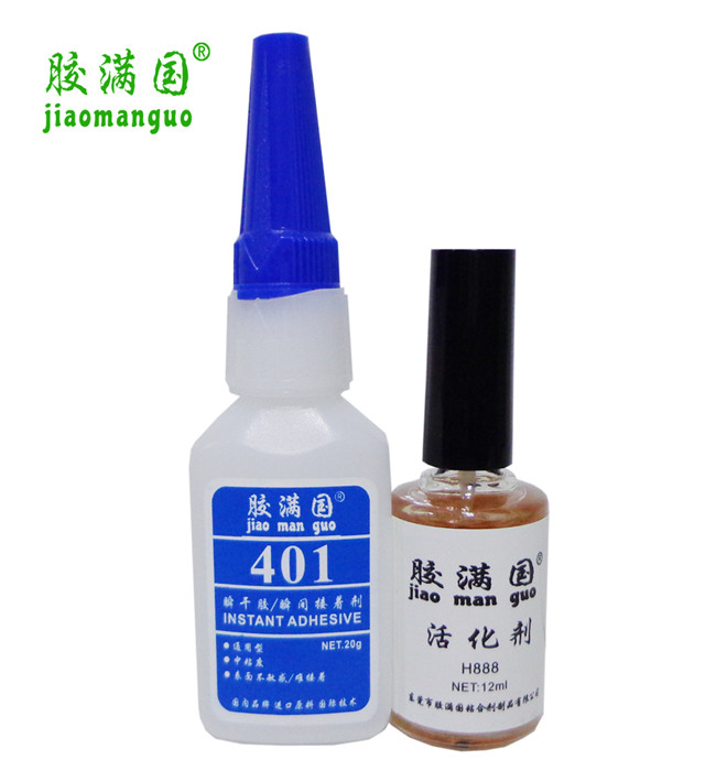 Instant dry adhesive on the surface of adhesive 401