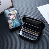高档放卡卡包女式小香风多功能大容量小ck装银小巧卡套精致卡夹