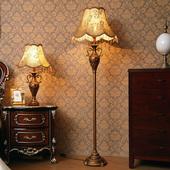 复古家用客厅沙发茶几灯站灯卧室床头立式 高脚台灯 欧式 落地灯美式