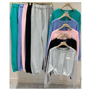 林珊珊sunny33小超人網紅同款秋季女士衞衣寬鬆休閒運動純色套裝