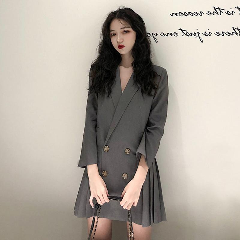 2019秋冬季新款韩版法式西装裙子热销43件不包邮