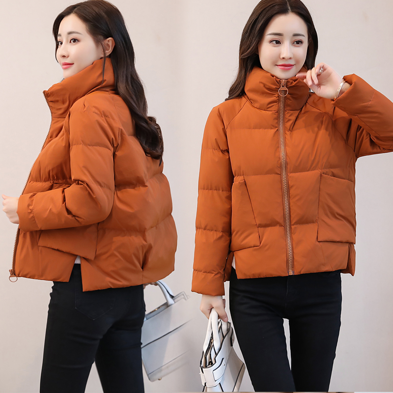 Womens cotton padded jacket womens 2021 new stand collar Korean small cotton padded jacket womens short fashion winter womens down cotton padded jacket