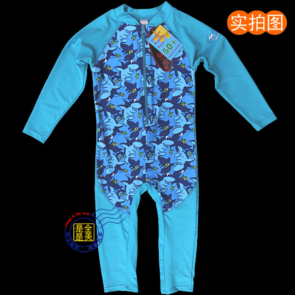 Export childrens long sleeve pants one-piece swimsuit warm Surfer Beach diving suit UV protection 1-11 years old