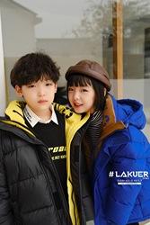 拉酷儿lakuer波拉韩国童装儿童羽绒服2020冬装男女童保暖外套加厚