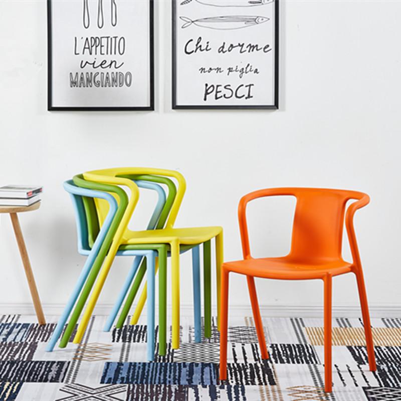 Air-Chair 明式扶手椅现代简约家用塑料餐椅时尚休闲靠背塑料椅子