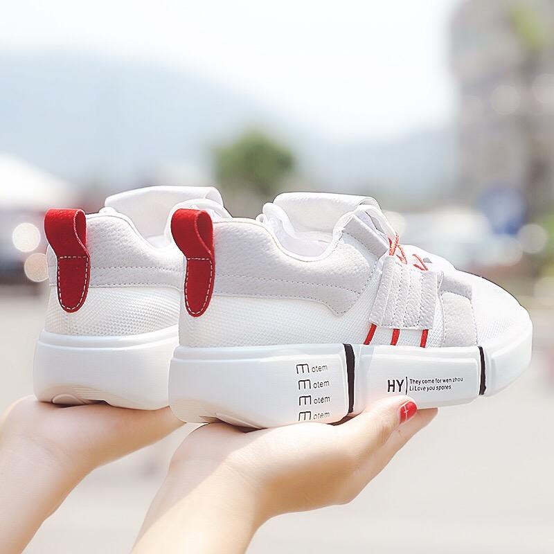网面小白鞋女透气2018夏新款韩版运动鞋女厚底跑步鞋学生休闲鞋女