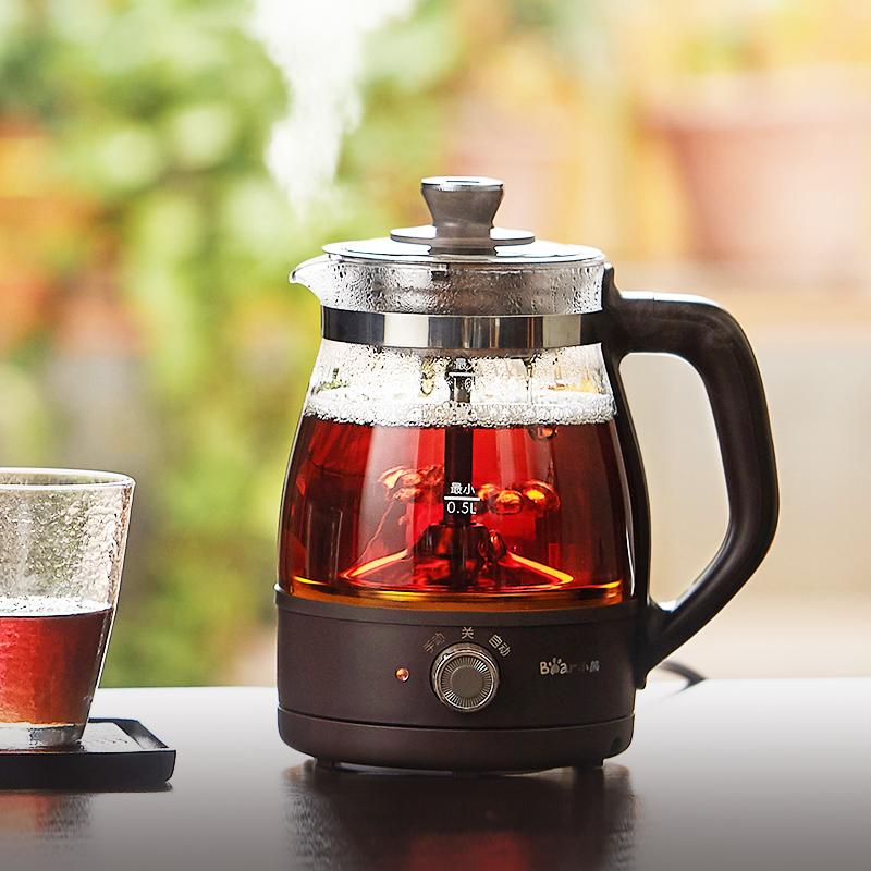 Bear/小熊 ZCQ-A10X1养生壶家用全自动蒸汽喷淋式煮茶器玻璃茶壶