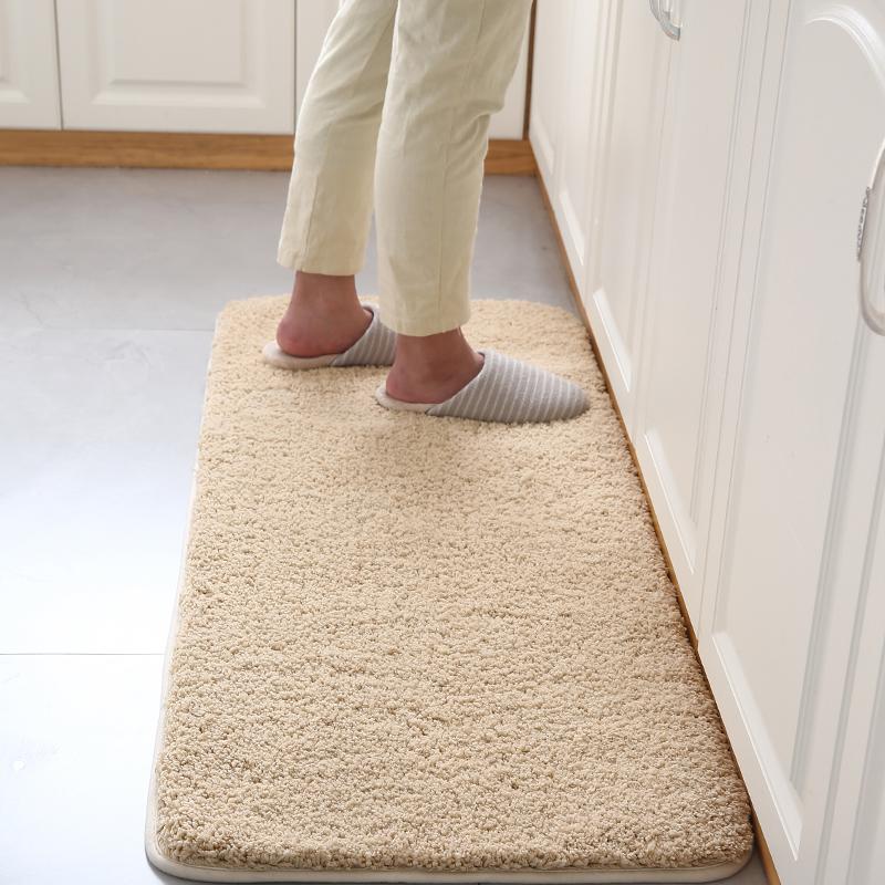 厨房地垫吸水防油长条浴室防滑脚垫子飘窗门垫家用客厅蛋糕绒地毯