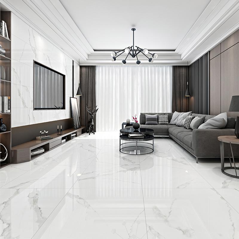 客厅瓷砖北欧卫生间大理石800x800地砖厨房阳台厕所浴室爵士白