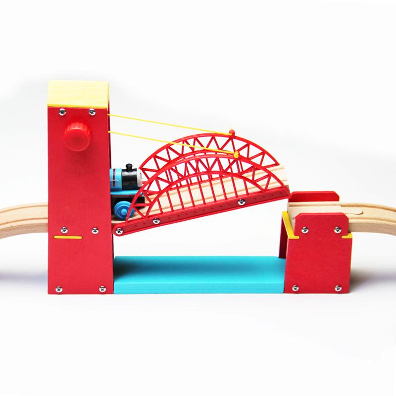 Деревянный вешать мост магнитный деревянный томас маленький поезд трек монтаж совместимый бристоль заумный ikea трек игрушка