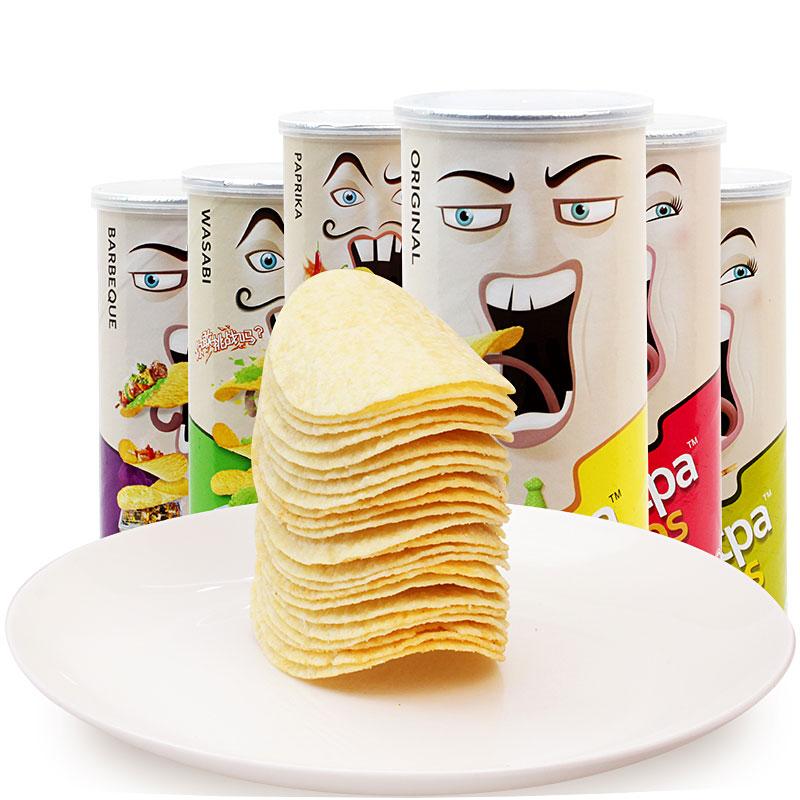 馬來西亞 Carotpa撲克牌薯片100g^~4罐 辦公室 零食品小吃