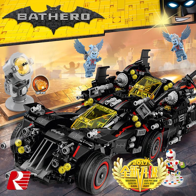 Lego building blocks Batman movie series batwing chariot puzzle assembled boy childrens toy model