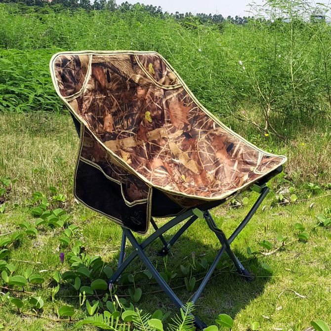户外便携式 钓鱼椅凳子休闲靠背躺椅沙滩月亮椅露营桌椅板凳 折叠椅