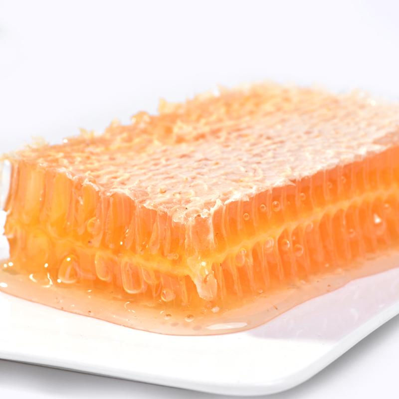 俄罗斯进口正宗蜂巢蜜蜂窝蜜纯正天然蜂巢蜜嚼着吃500g土蜂蜜蜜巢图片