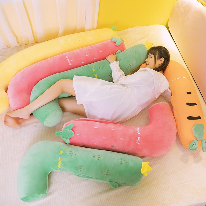 限时秒杀凤梨抱枕长条枕夹腿可拆洗圆柱睡觉枕头孕妇床上床头双人靠枕靠垫